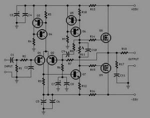 Rangkaian 25Watt Audio Amplifier Mosfet