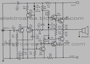Rangkaian 150 Watt OCL Amplifier